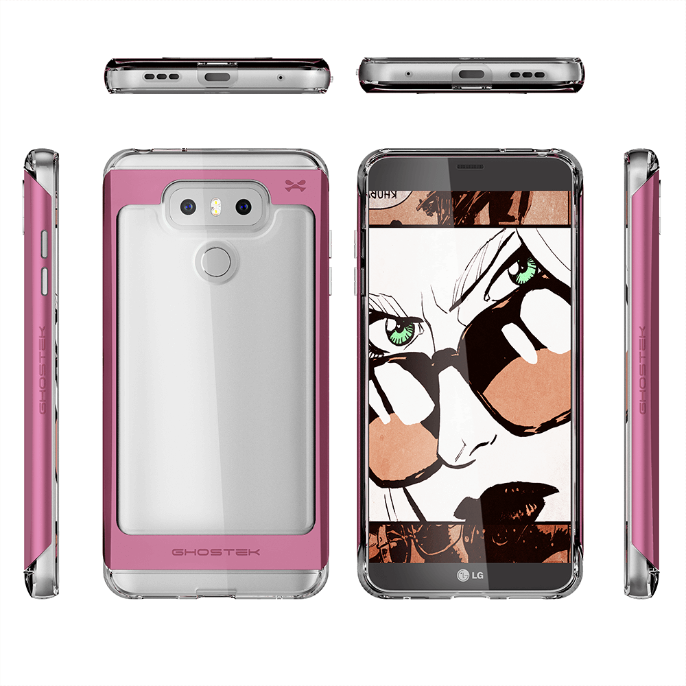LG G6 Case, Ghostek Pink 2.0 Pink Series w/ ExplosionProof Screen Protector | Aluminum Frame