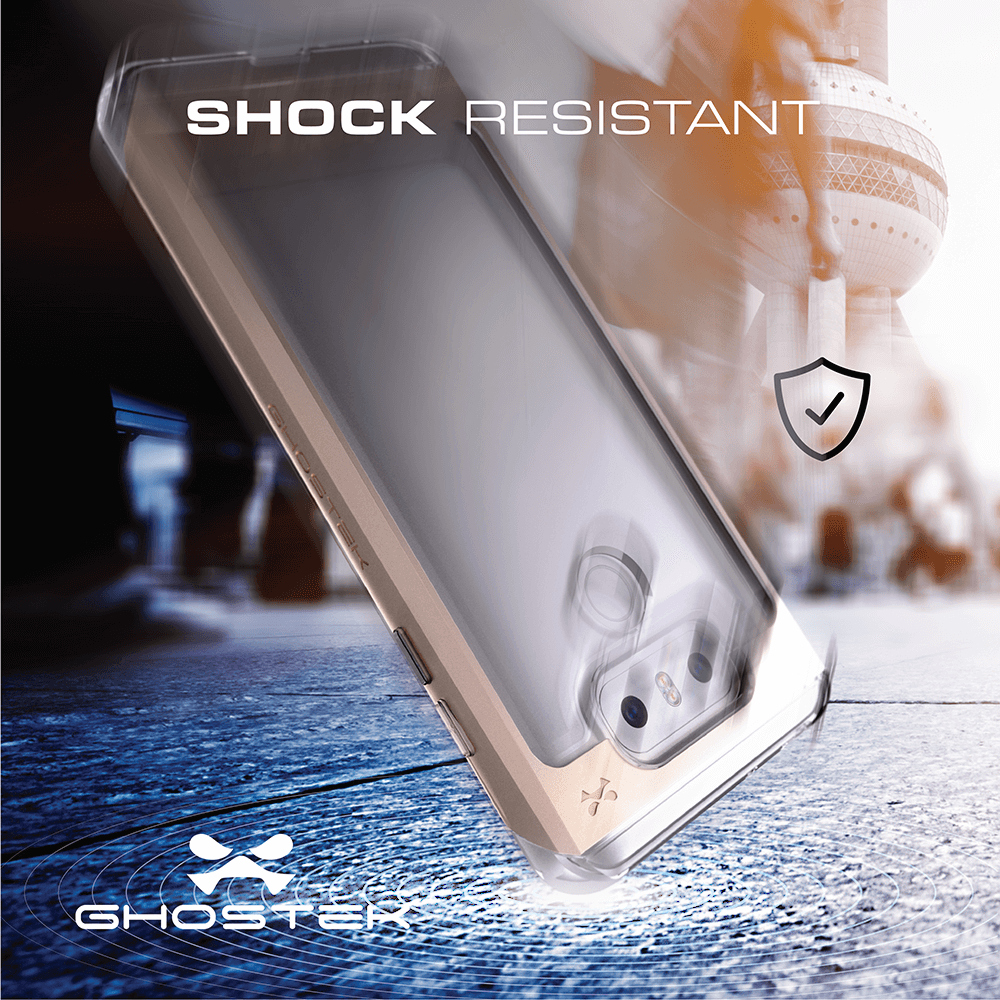 LG G6 Case, Ghostek® Cloak 2.0 Gold w/ Explosion-Proof Screen Protector | Aluminum Frame