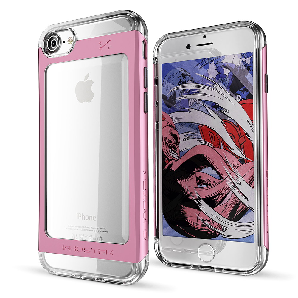 iPhone 7 Case, Ghostek  Cloak 2.0 Pink Series w/ ExplosionProof Screen Protector | Aluminum Frame
