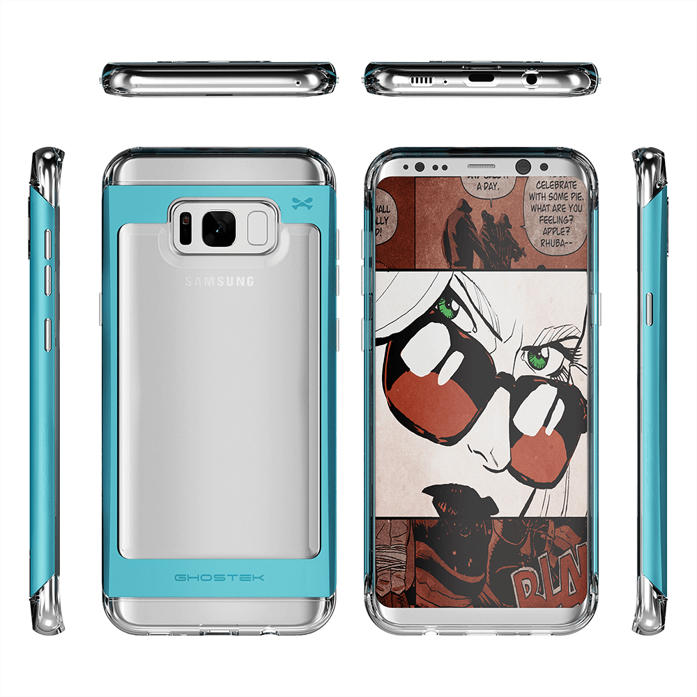 Galaxy S8 Plus Case, Ghostek® 2.0 Teal Series w/ Explosion-Proof Screen Protector | Aluminum Frame