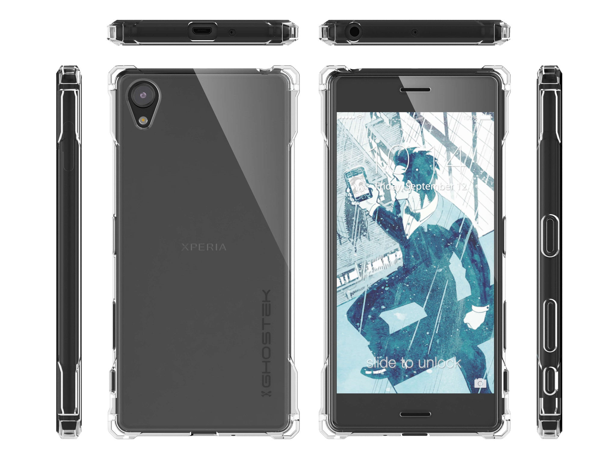 Xperia X Case, Ghostek® Covert Clear Series | Clear TPU | Warranty | Screen Protector | Ultra Fit
