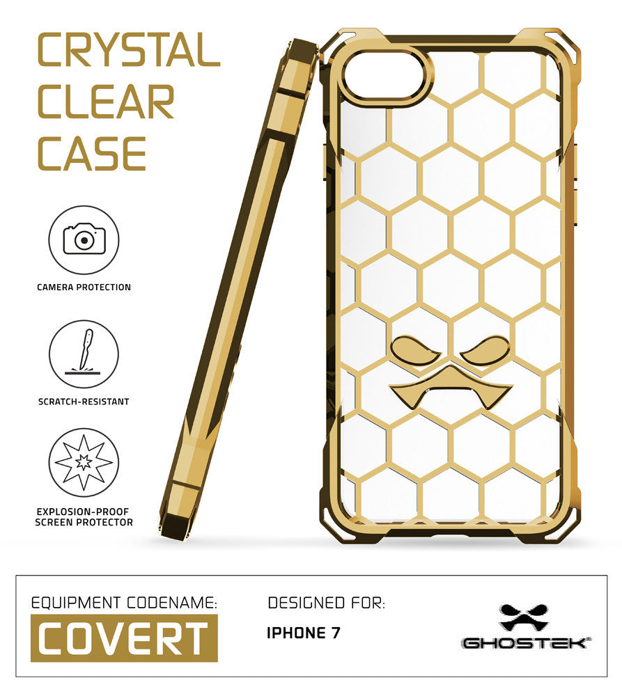 iPhone 7+ Plus Case, Ghostek® Covert Gold, Premium Impact Protective Armor | Warranty