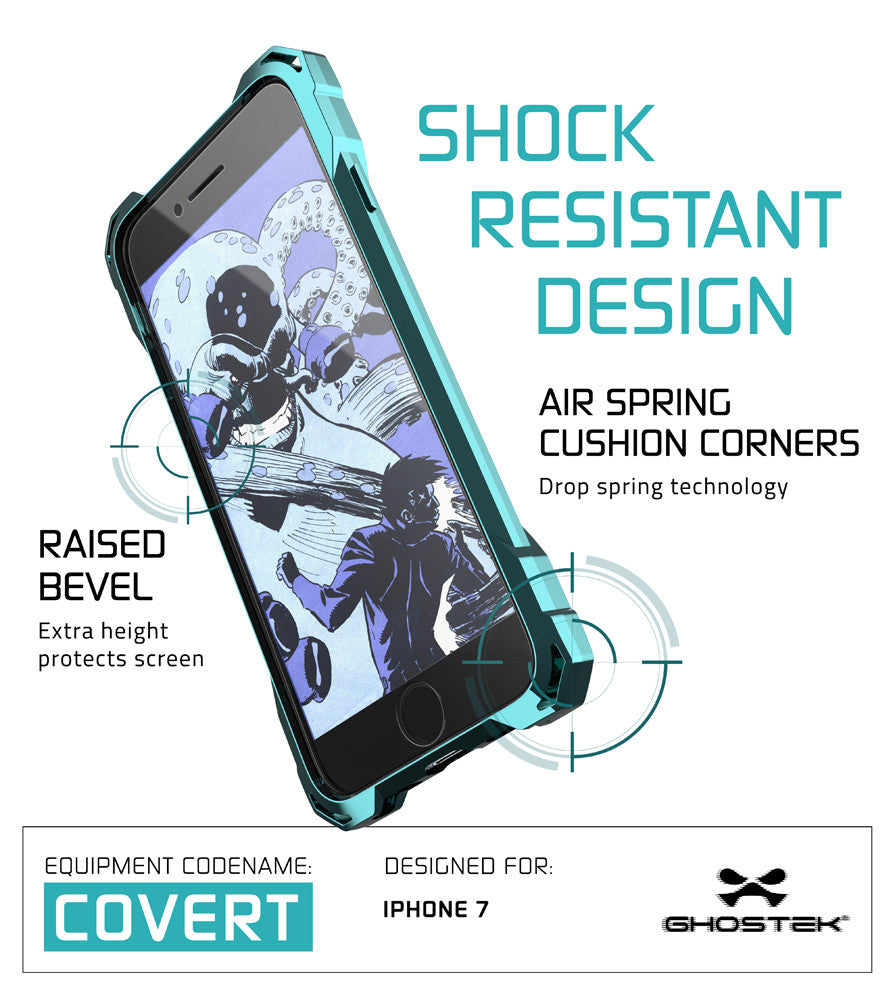 iPhone 7 Case, Ghostek® Covert Teal, Premium Impact Protective Armor | Lifetime Warranty Exchange