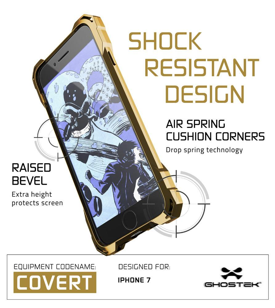 iPhone 8+ Plus Case, Ghostek® Covert Gold, Premium Impact Protective Armor | Warranty