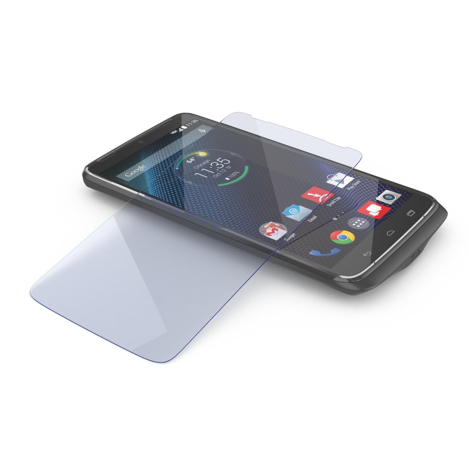 Motorola DROID TURBO Screen Protector, Ghostek Glass Armor Tempered Glass Protector 0.33mm Thick 9H