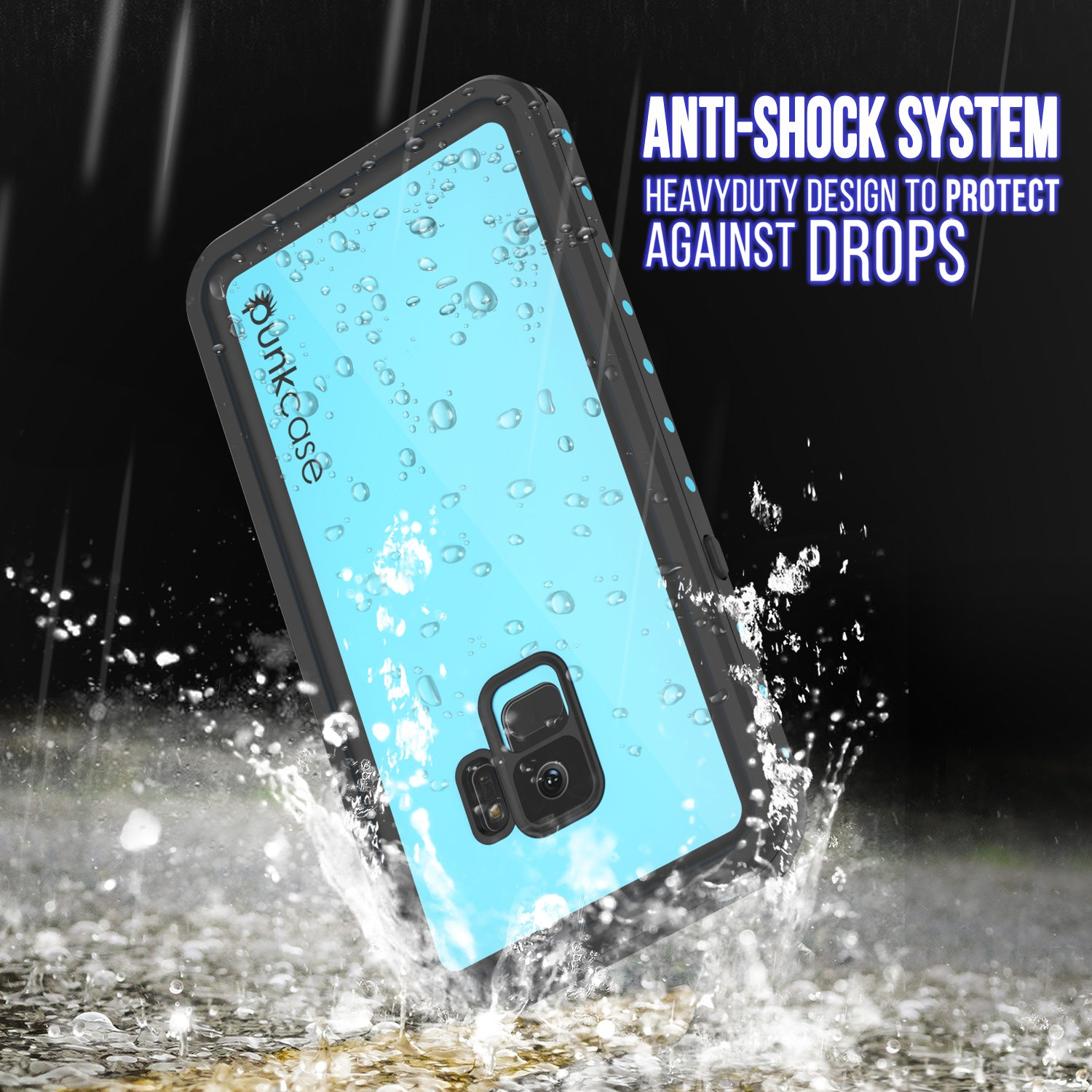 Galaxy S9 Waterproof Case PunkCase StudStar Teal Thin 6.6ft Underwater IP68 Shock/Snow Proof