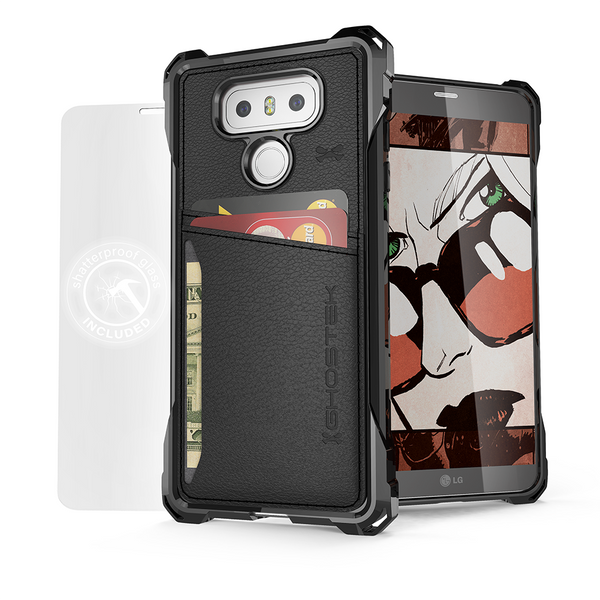 Lg G6 Wallet Case Ghostek Exec Black Series Slim Armor
