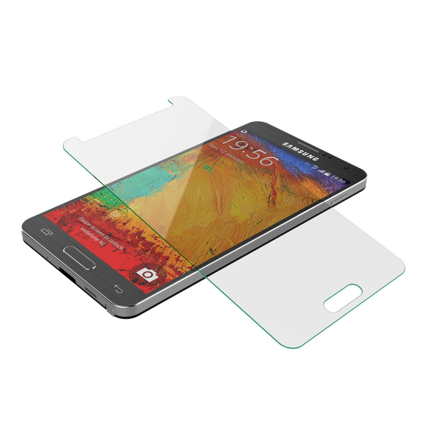 Galaxy Note 3 Punkcase Glass SHIELD Samsung Tempered Glass Screen Protector 0.33mm Thick 9H Glass