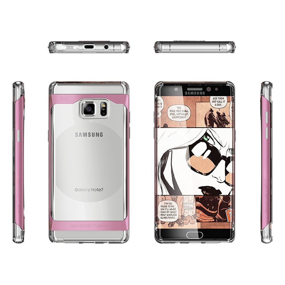 Galaxy Note 7 Case, Ghostek Pink 2.0 Pink Series w/ ExplosionProof Screen Protector | Aluminum Frame