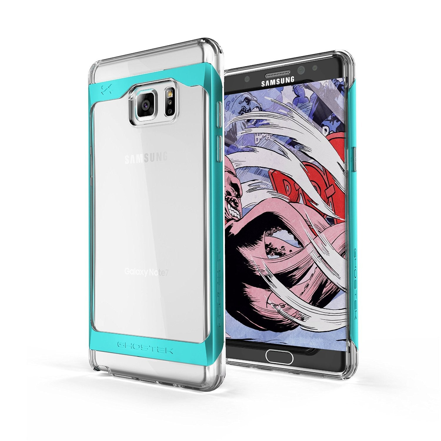 Galaxy Note 7 Case, Ghostek® 2.0 Teal Series w/ Explosion-Proof Screen Protector | Aluminum Frame