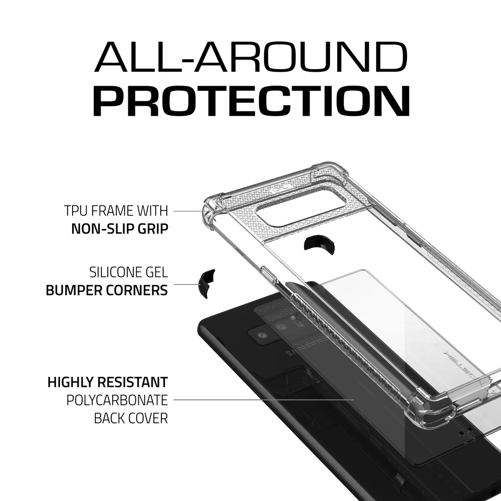 Galaxy Note 8 Ultra Shock Drop Protection Metal Case | Black