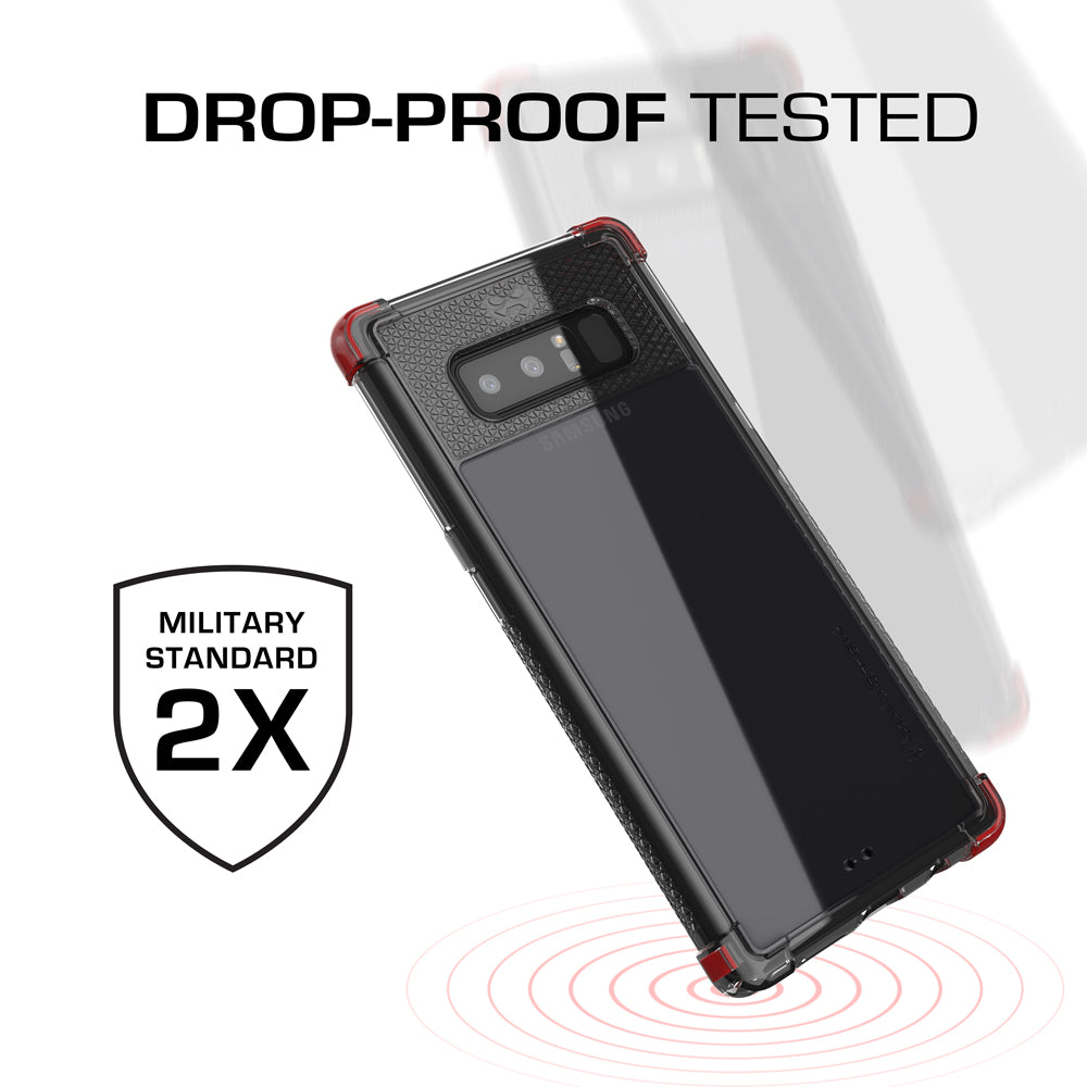 Galaxy Note 8 Ultra Shock Drop Protection Metal Case | Red