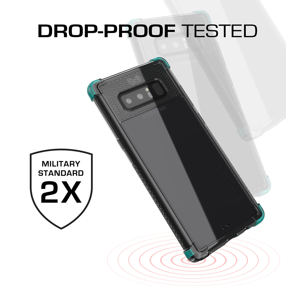 Galaxy Note 8 Ultra Shock Drop Protection Metal Case | Teal