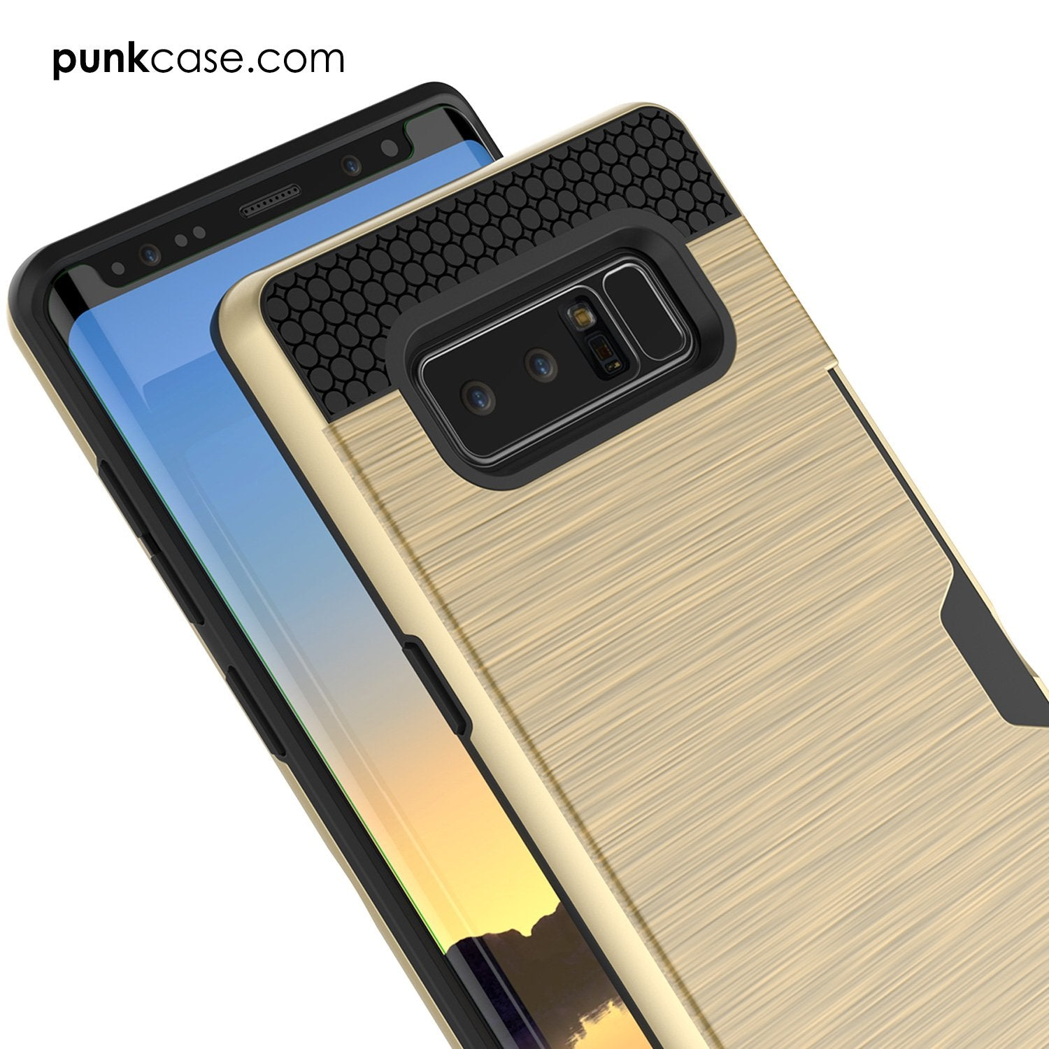 Galaxy Note 8 Dual-Layer Ultra Screen Protector Case W/ Card Slot [Gold]
