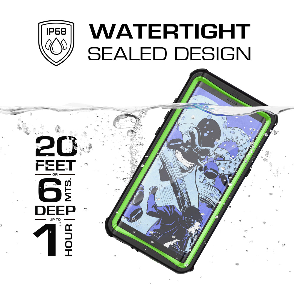 Galaxy Note 8, Ghostek Nautical Series Waterproof Case for Samsung Galaxy Note 8 Heavy Duty | Green