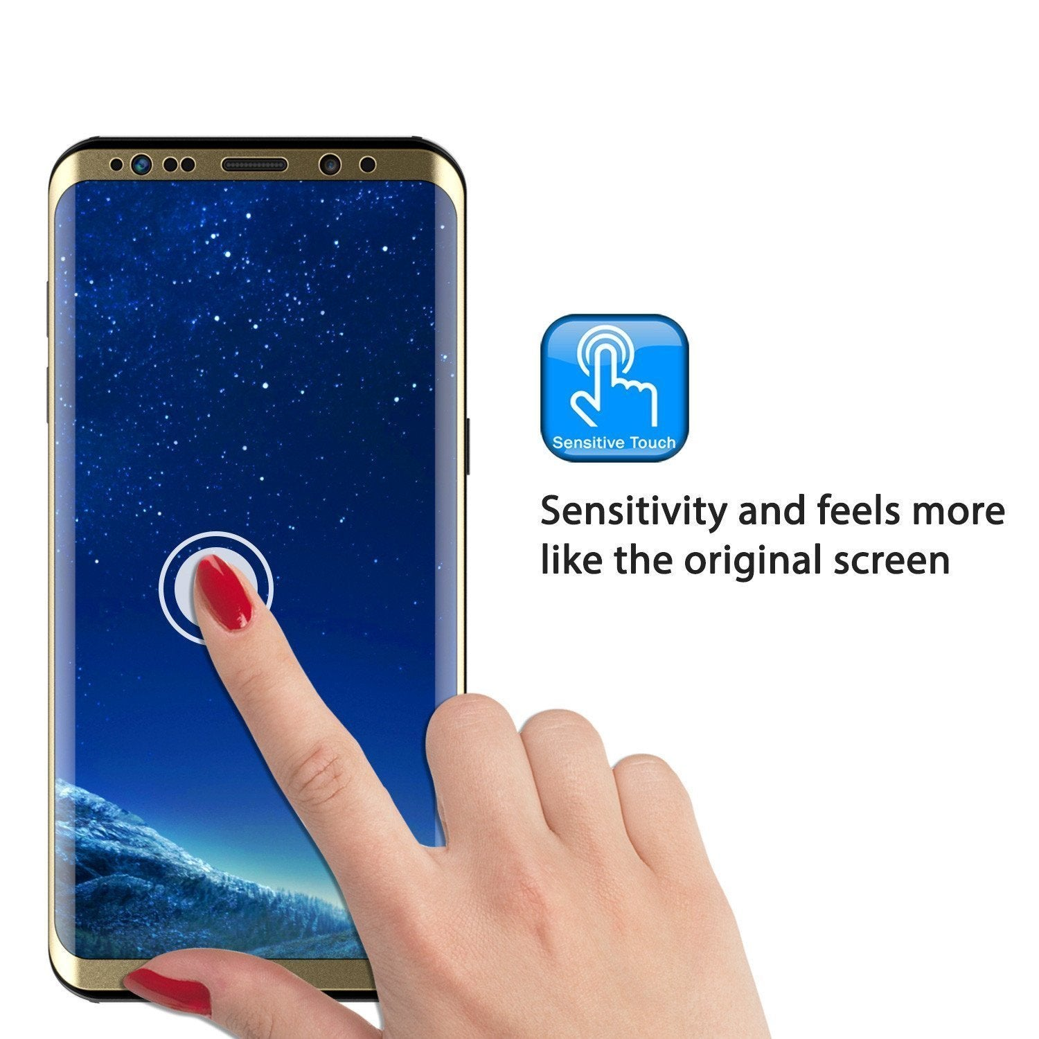 Galaxy S9  Gold Punkcase Glass SHIELD Tempered Glass Screen Protector 0.33mm Thick 9H Glass