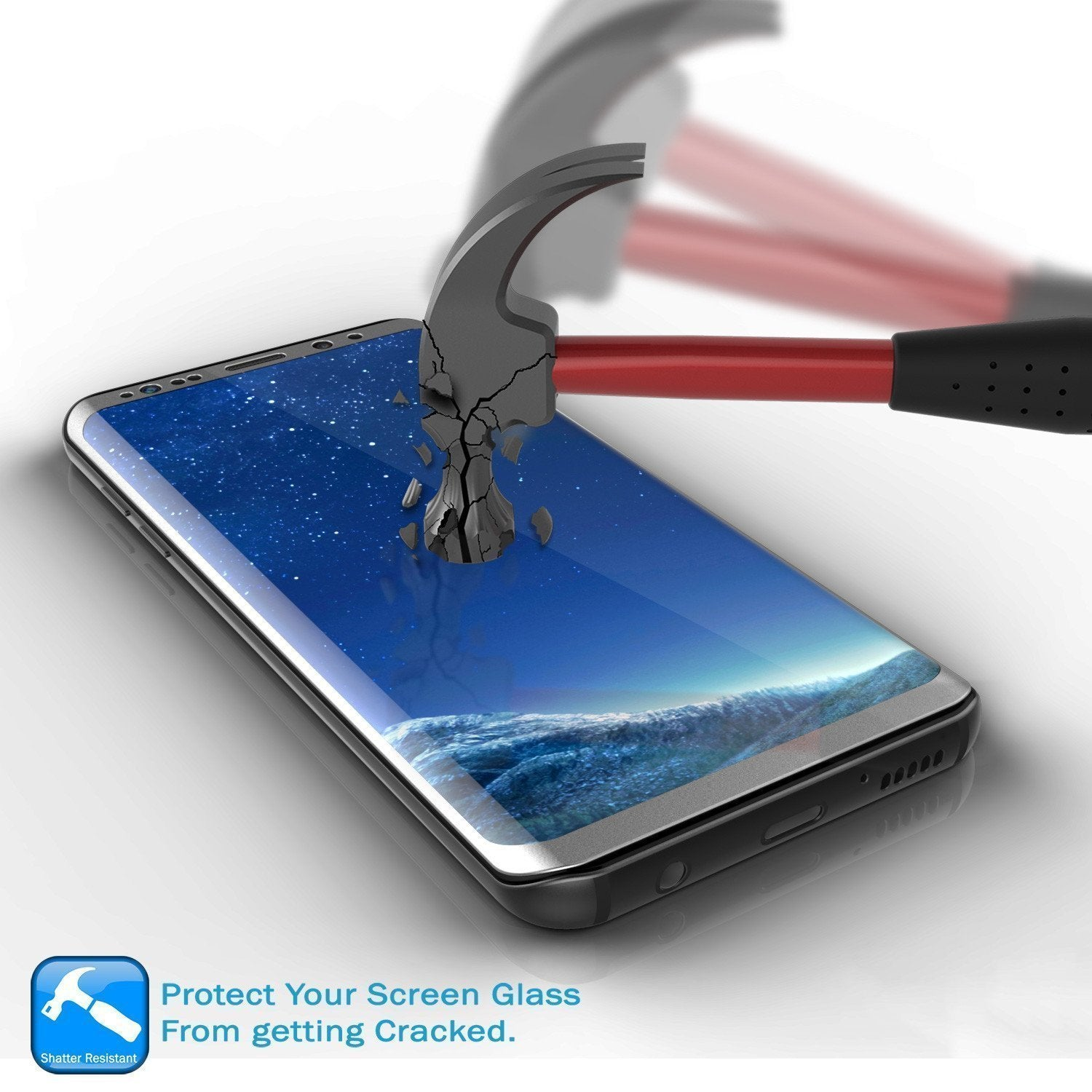 Galaxy S21  Silver Punkcase Glass SHIELD Tempered Glass Screen Protector 0.33mm Thick 9H Glass