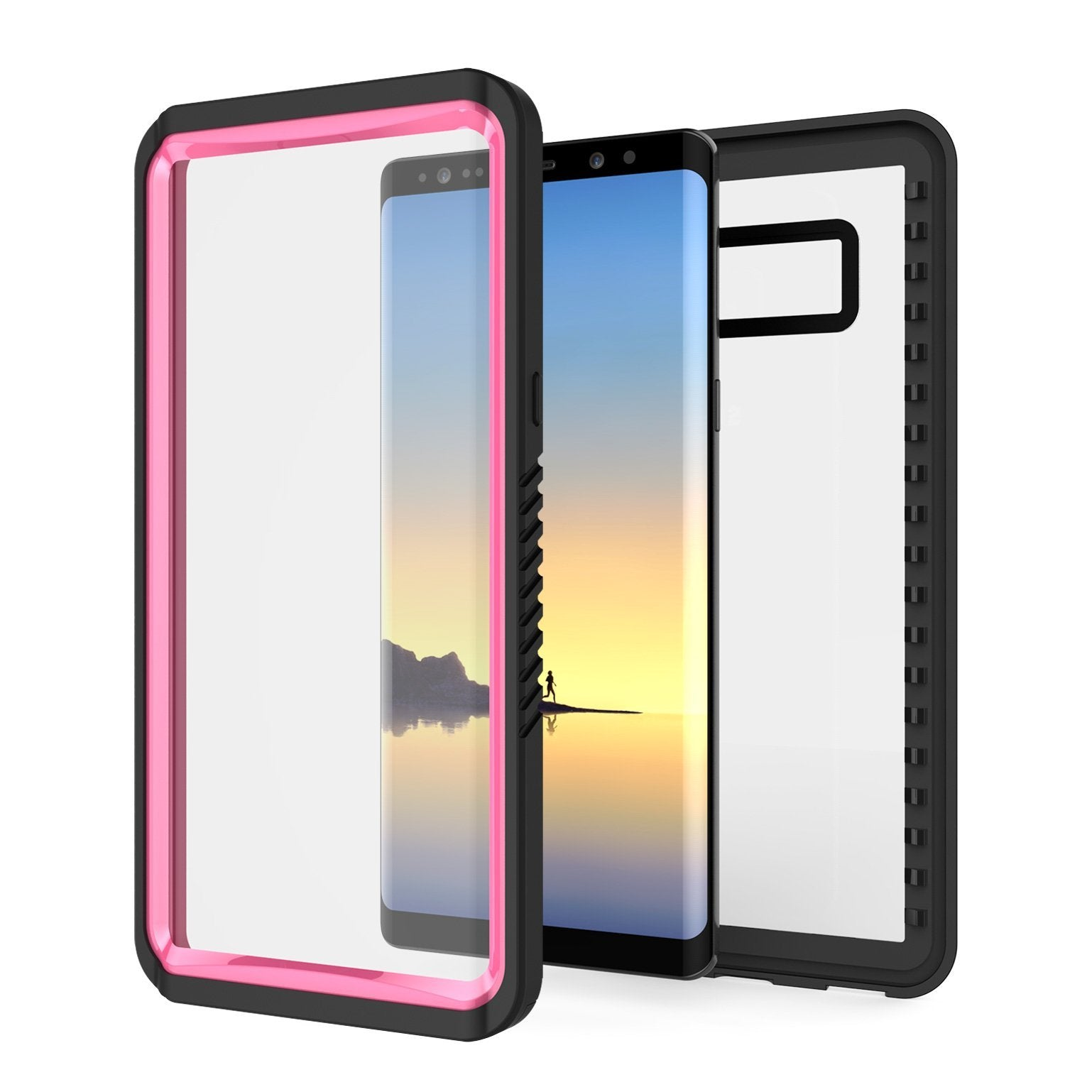 Galaxy Note 8 Anti-Shock Screen Protector Slim-Fit Case [Pink]