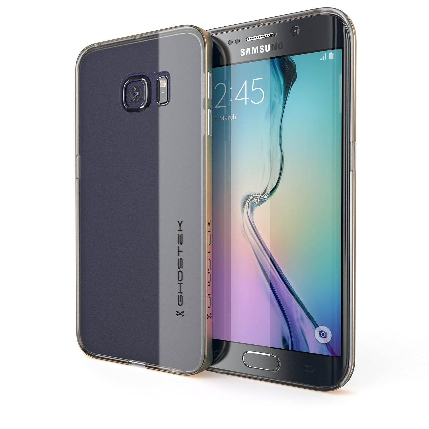 galaxy s6 edge casesgalaxy s6 edge case, ghostek back sapphire cloak series slim hybrid impact armor lifetime