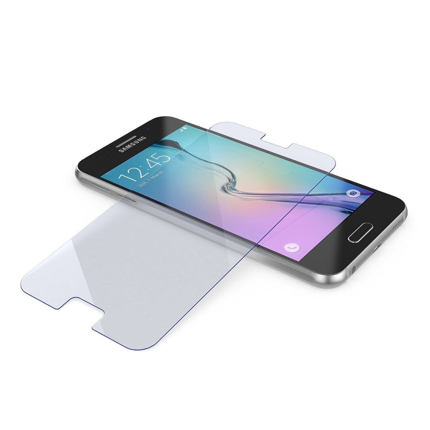 Galaxy S6 Screen Protector, Ghostek Glass Armor Tempered Glass Screen Protector 0.33mm Thick 9H