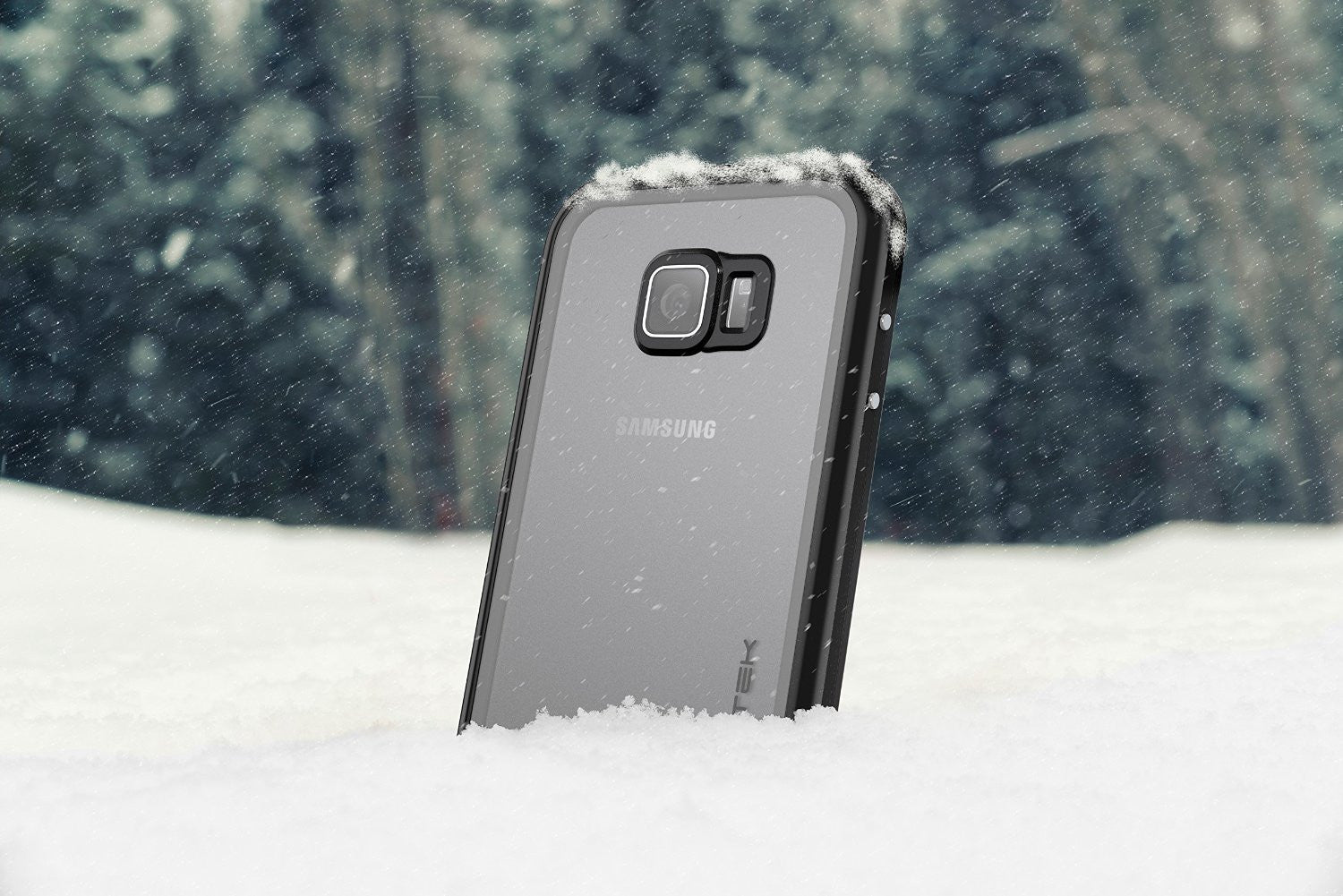 Galaxy S6 Waterproof Case, Ghostek Atomic 2.0 Silver Water/Shock/Dirt/Snow Proof | Lifetime Warranty