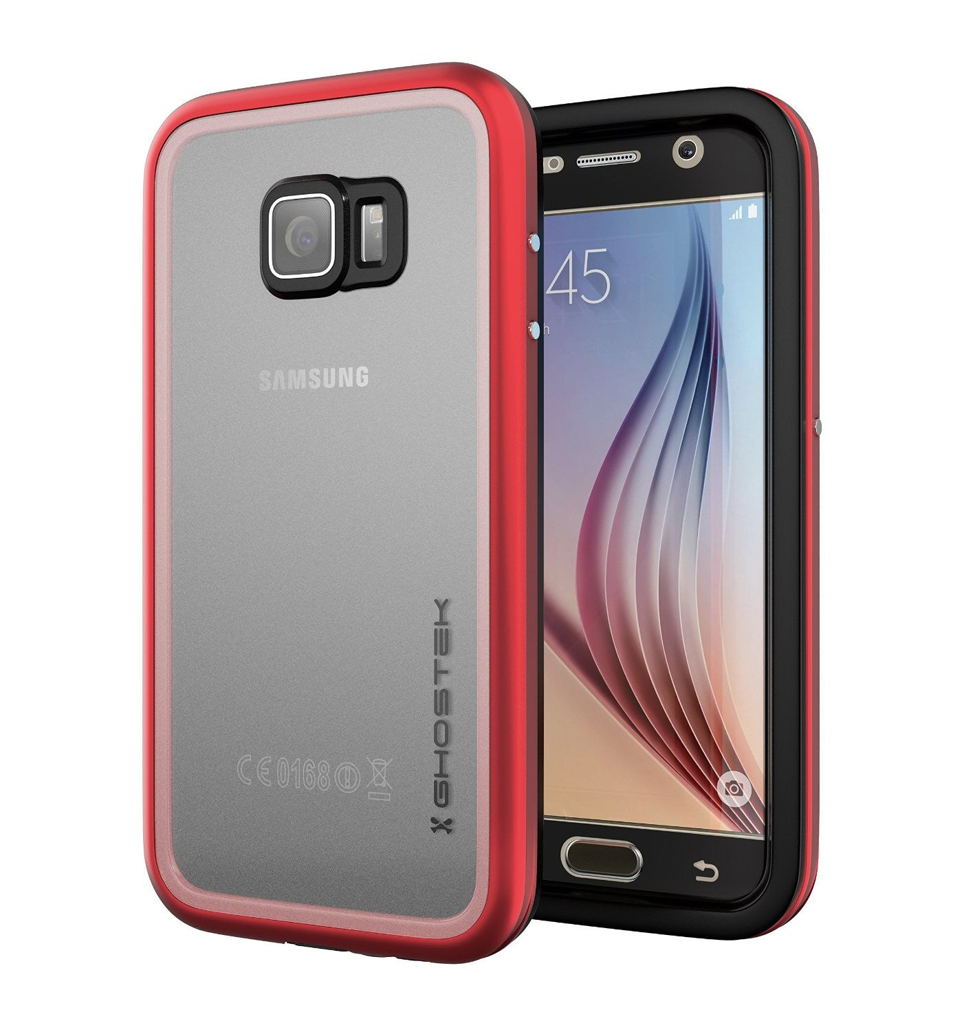 Galaxy S6 Waterproof Case, Ghostek Atomic 2.0 Red  Water/Shock/Dirt/Snow Proof | Lifetime Warranty