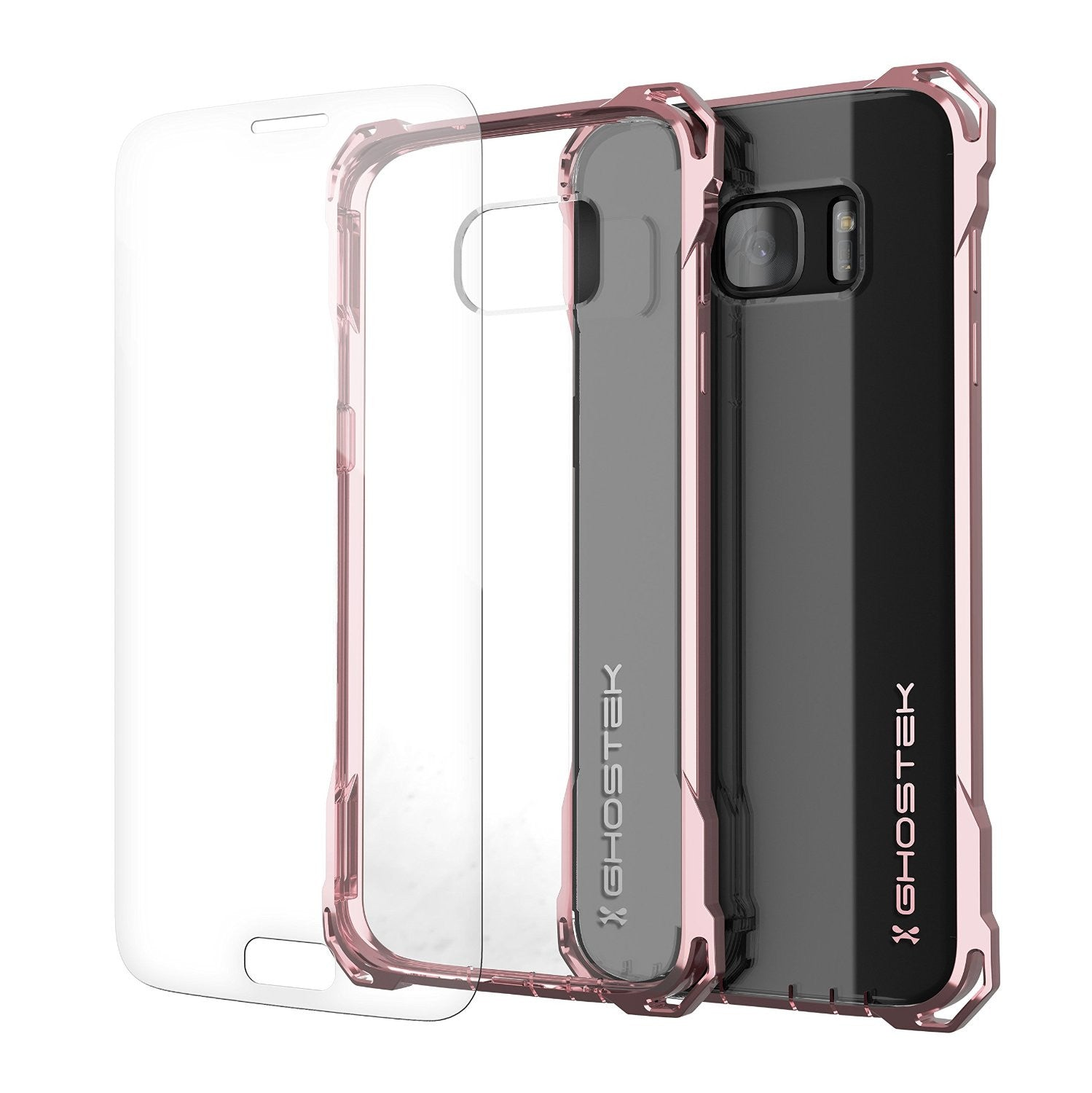 S7 Edge Case, Ghostek® Covert Peach Series Premium Impact Cover | Lifetime Warranty Exchange