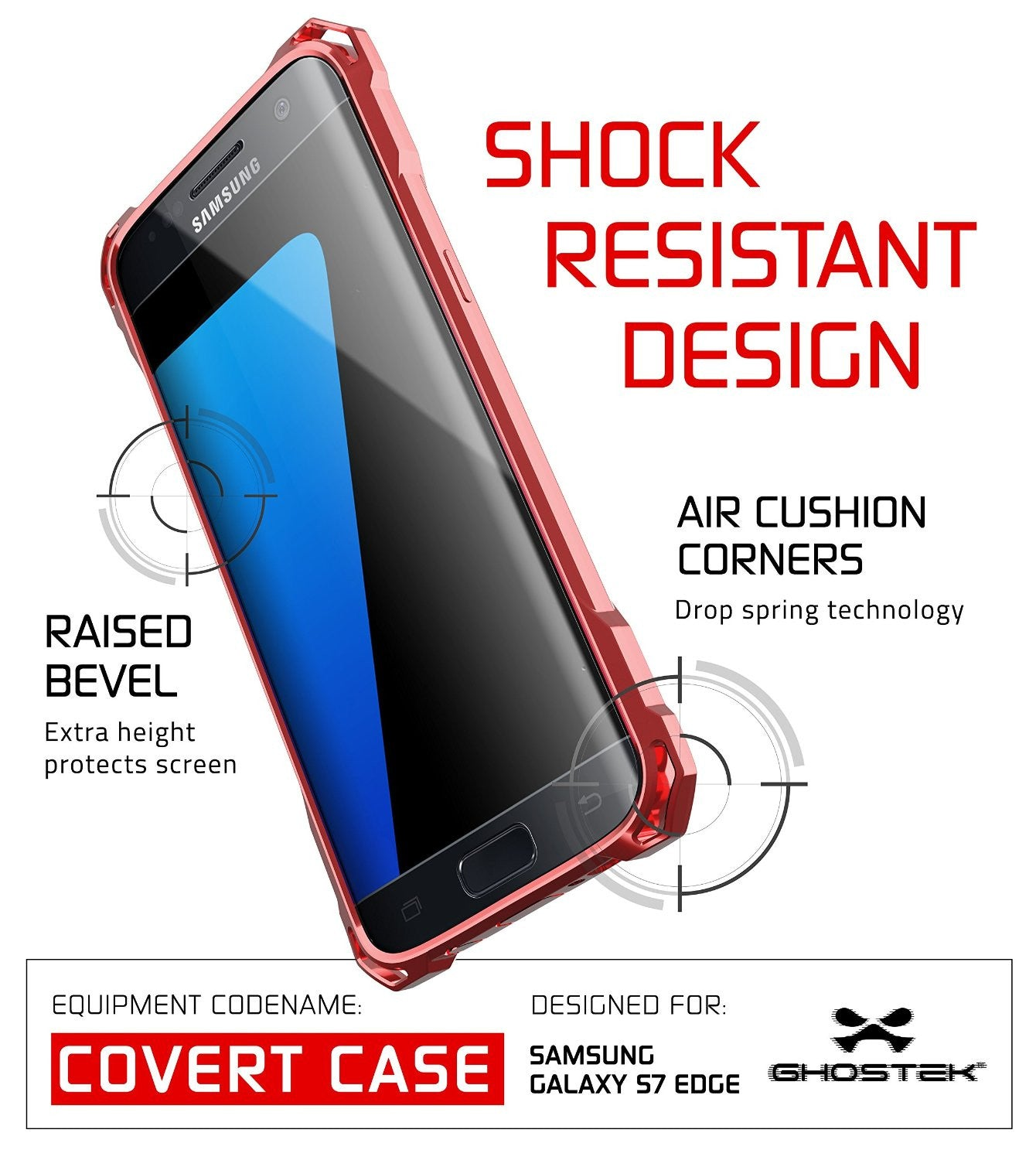 S7 Edge Case, Ghostek® Covert Rose Pink Series Premium Impact Cover | Lifetime Warranty Exchange