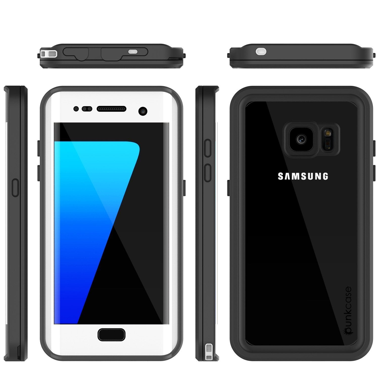 Galaxy S7 Edge Waterproof Case, Punkcase [Extreme Series] [Slim Fit] Armor Cover W/ Built In Screen Protector [WHITE]