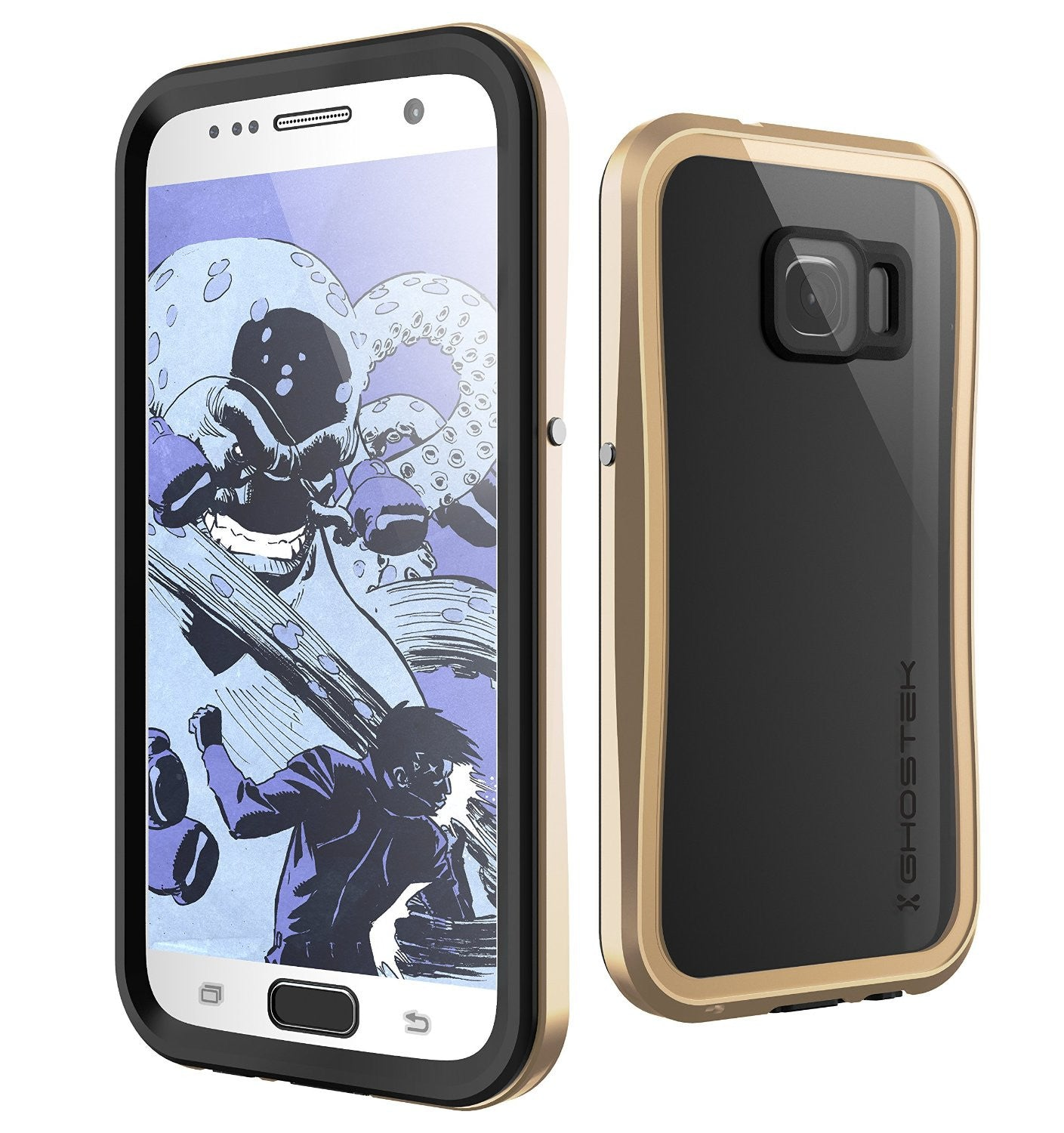 Galaxy S7 Waterproof Case, Ghostek Atomic 2.0 Gold  Water/Shock/Dirt/Snow Proof | Lifetime Warranty
