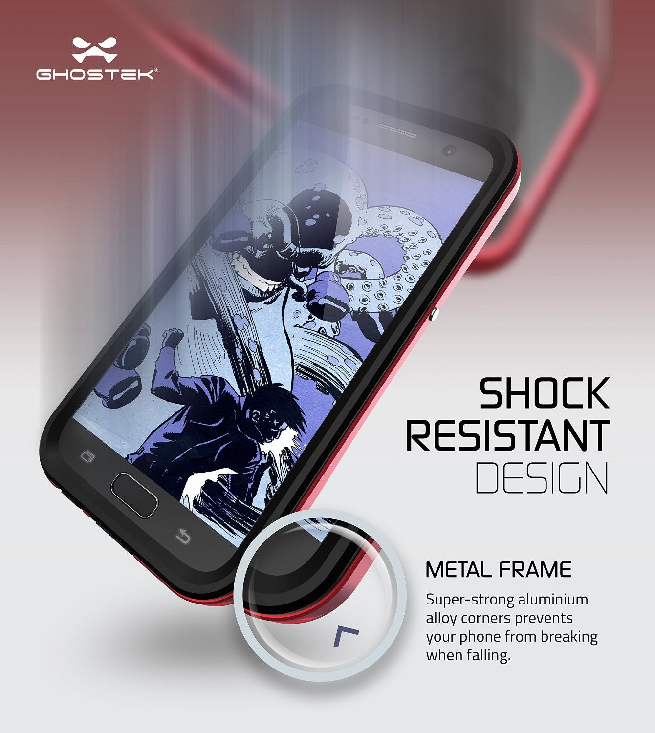 Galaxy S7 Waterproof Case, Ghostek Atomic 2.0 Red  Water/Shock/Dirt/Snow Proof | Lifetime Warranty