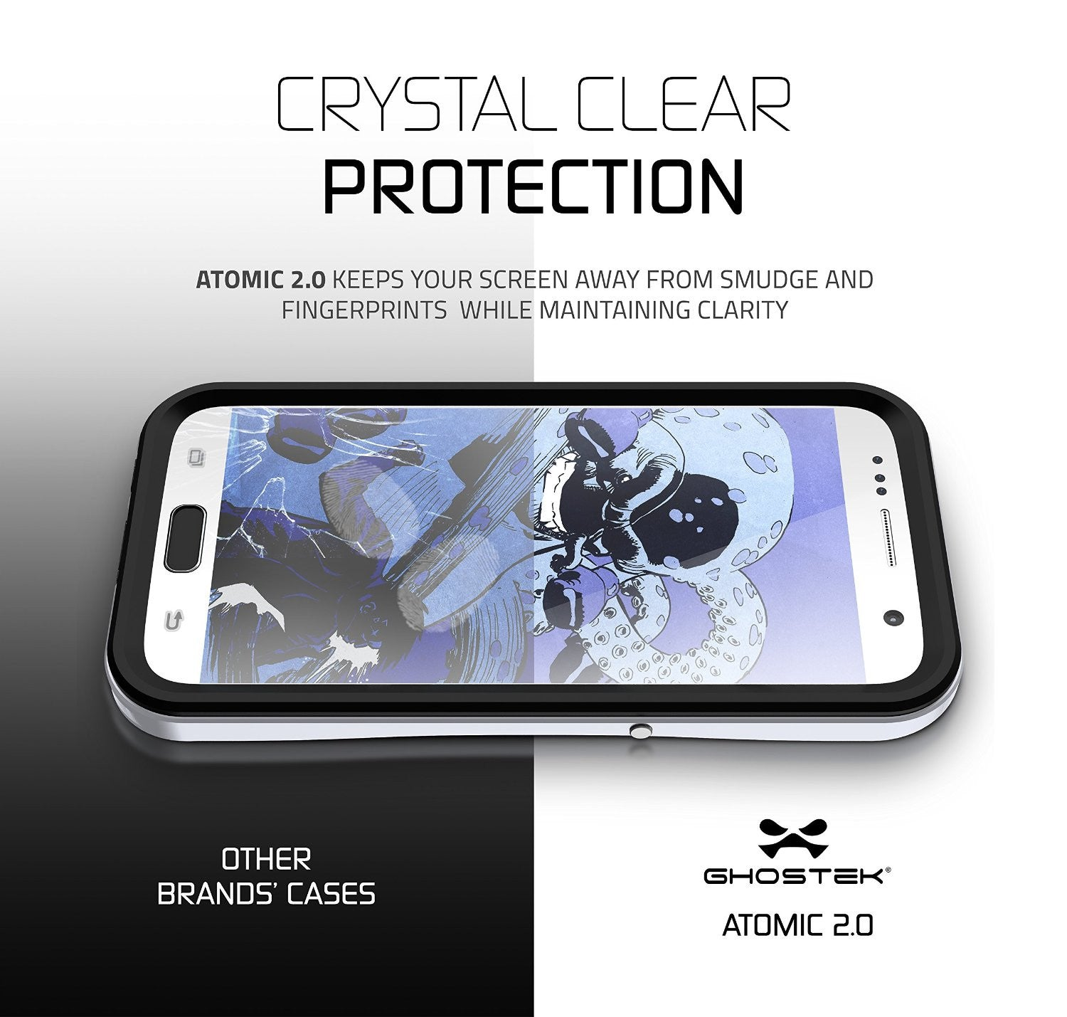 Galaxy S7 Waterproof Case, Ghostek Atomic 2.0 Silver Water/Shock/Dirt/Snow Proof | Lifetime Warranty