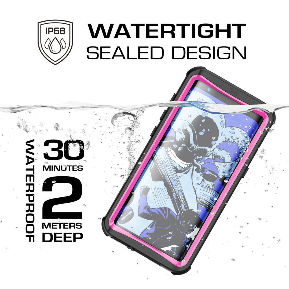 Galaxy S8 Plus Waterproof Case, Ghostek Nautical Series (Pink) | Slim Underwater Full Body Protection