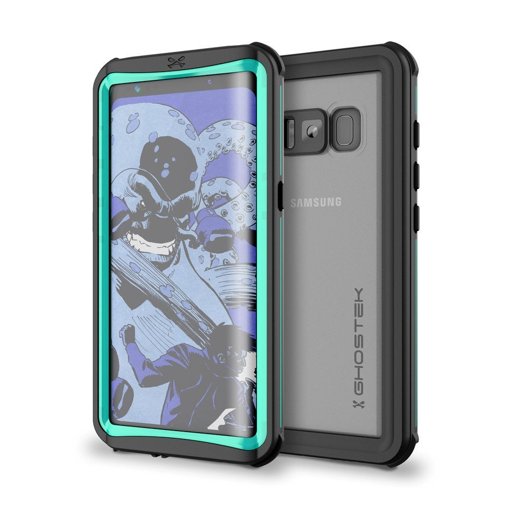 Galaxy S8 Plus Waterproof Case, Ghostek Nautical Series (Teal) | Slim Underwater Full Body Protection