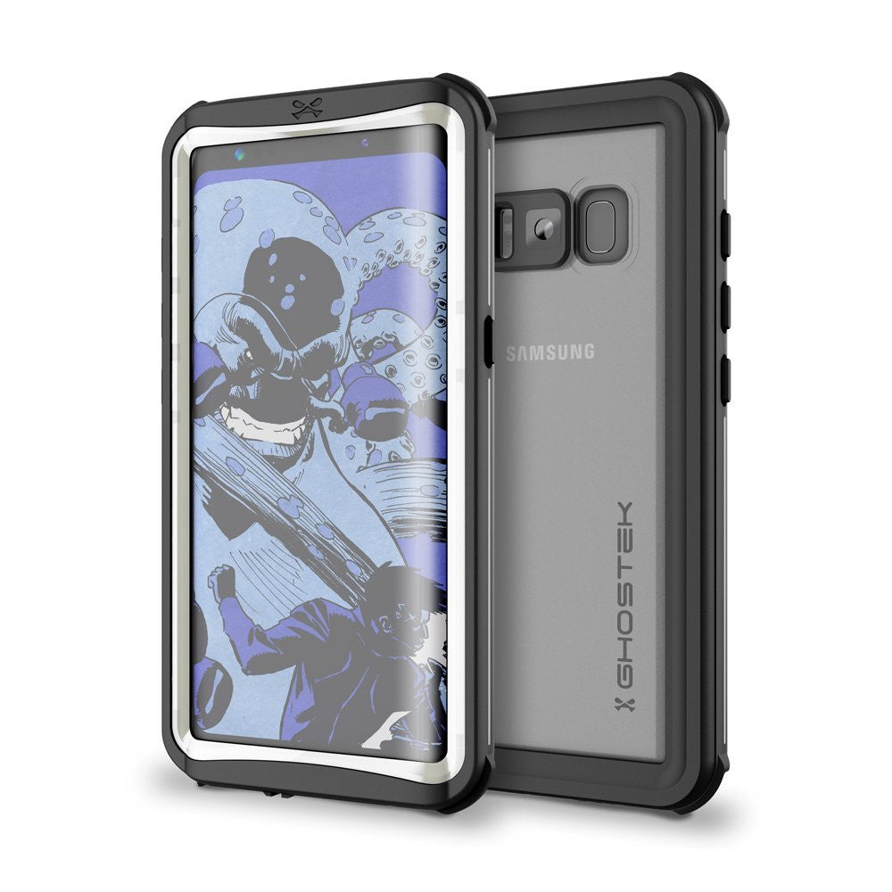 Galaxy S8 Plus Waterproof Case, Ghostek Nautical Series (White) | Slim Underwater Full Body Protection