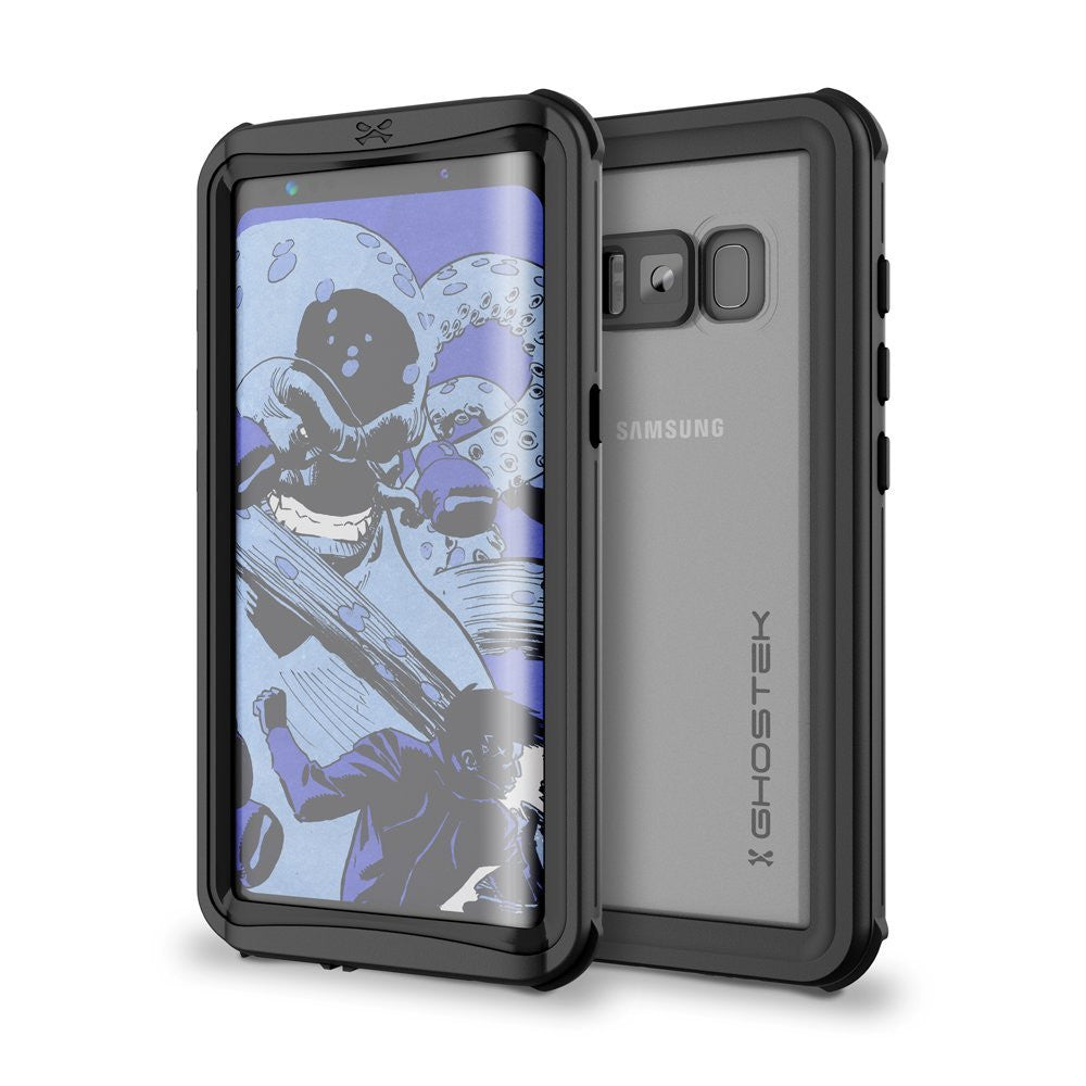 Galaxy S8 Waterproof Case, Ghostek Nautical Series (Black) | Slim Underwater Full Body Protection