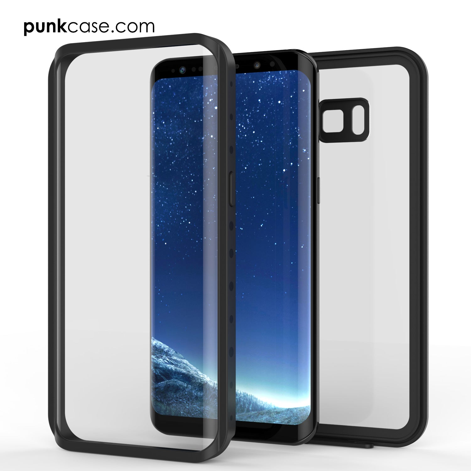 Galaxy S8 Waterproof Case, Punkcase [StudStar Series] [Slim Fit] [IP68 Certified] [Shockproof] [Dirtproof] [Snowproof] Armor Cover [Clear]