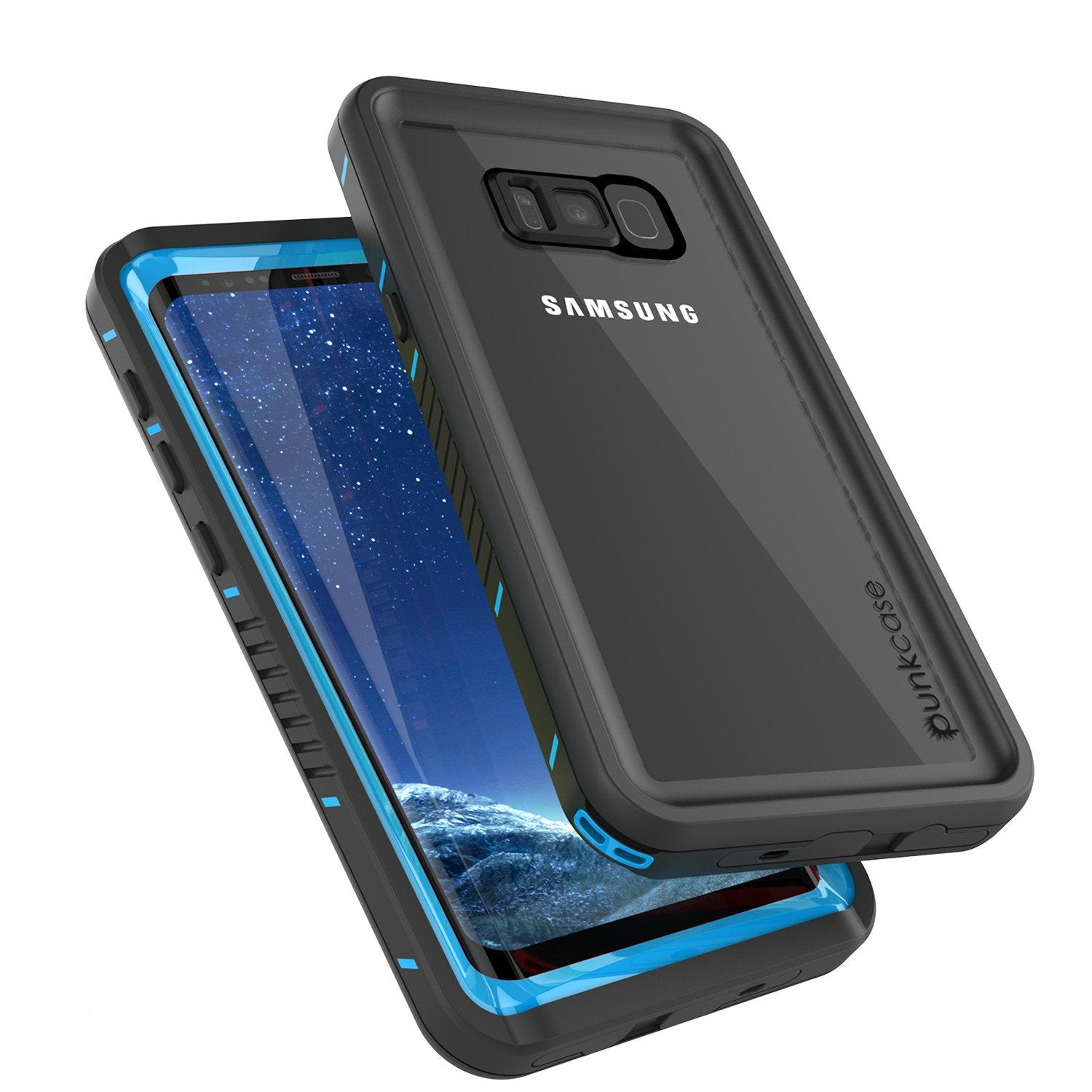 Galaxy S8 Waterproof Case, Punkcase [Extreme Series] [Slim Fit] [IP68 Certified] [Shockproof] [Snowproof] [Dirproof] Armor Cover [Light Blue]