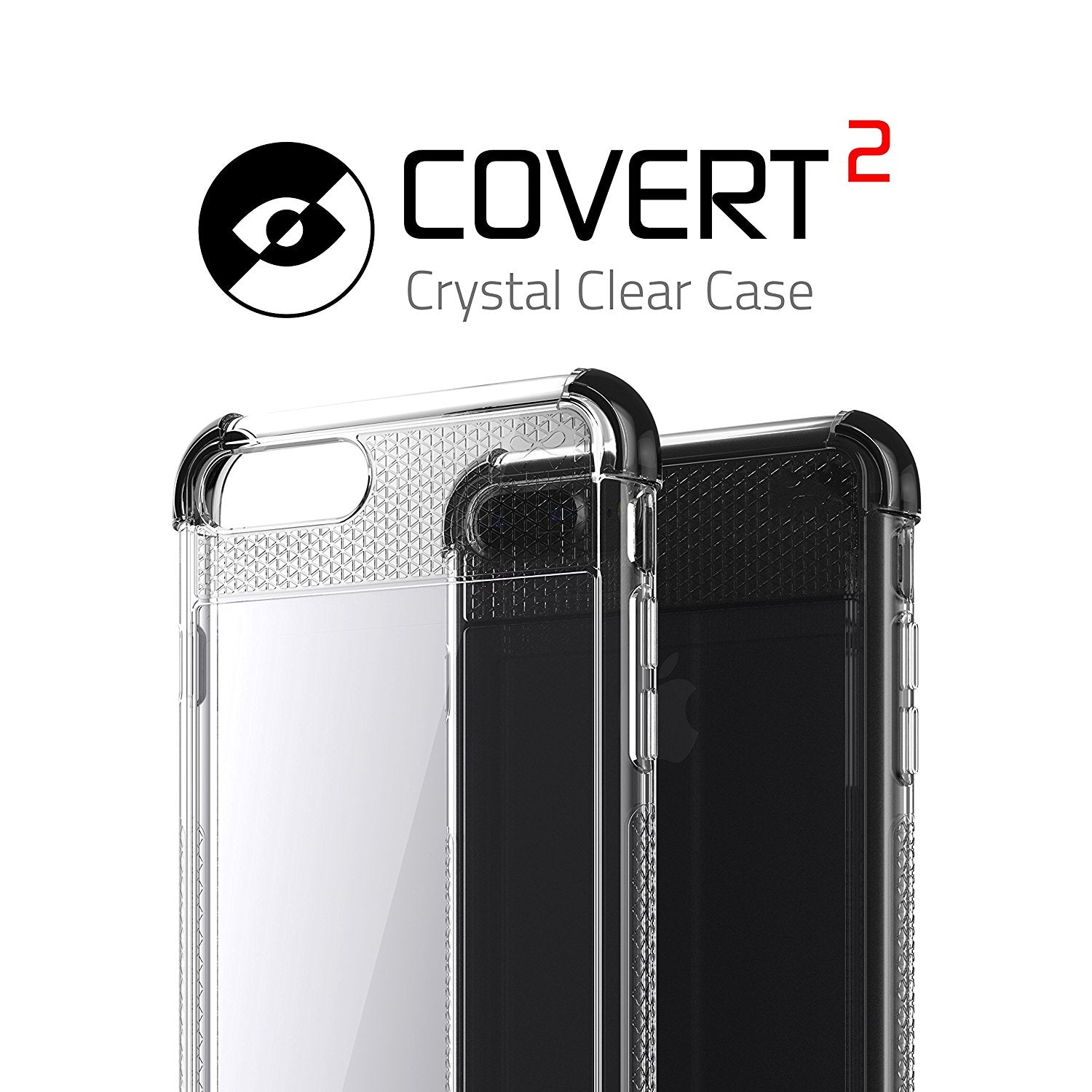 iPhone 8+ Plus Case, Ghostek Covert 2 Series for iPhone 8+ Plus Protective Case [ Black]