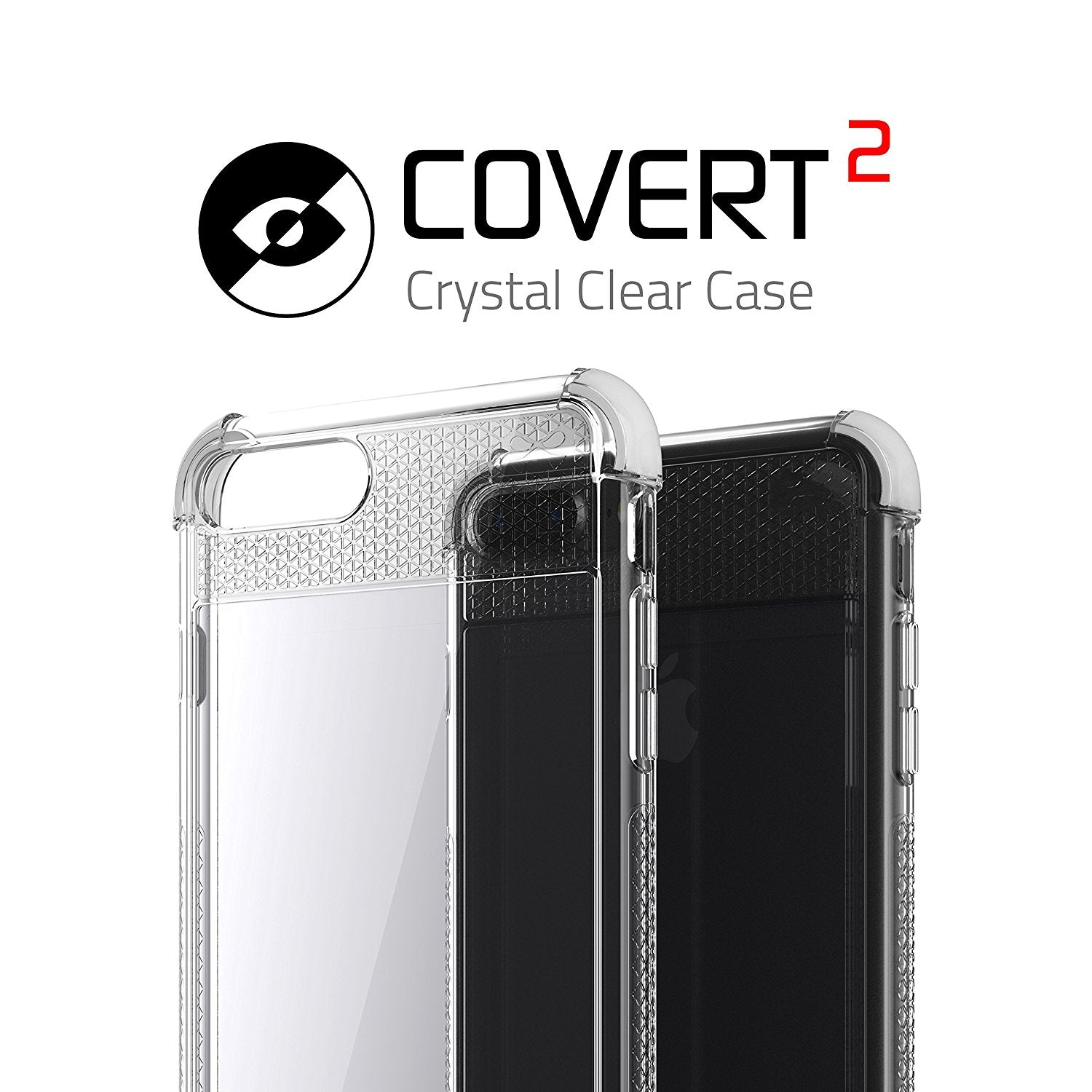 iPhone 7+ Plus Case, Ghostek Covert 2 Series for iPhone 7+ Plus Protective Case [ White]