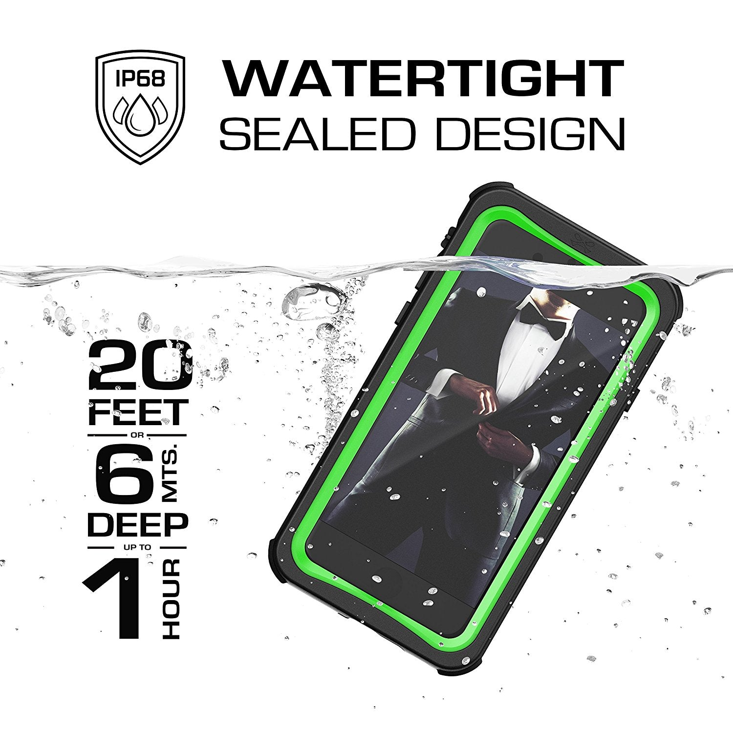 iPhone 8/7 Case, Ghostek Nautical Series  for iPhone 8/7 Case | GREEN