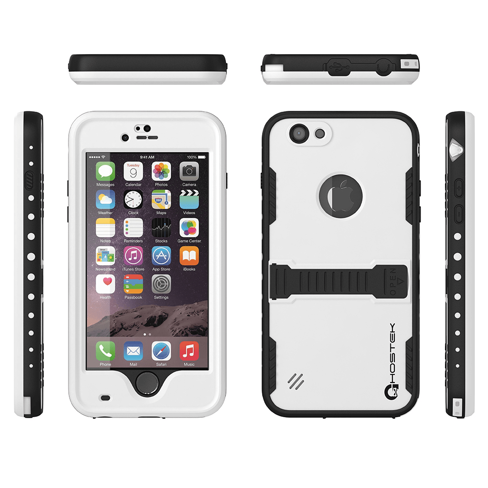 iphone-6-plus-waterproof-case-ghostek-atomic-white-apple-iphone-6-plus-waterproof-case-w-attached-screen-protector-lifetime-warranty-apple-iphone-6-plus-slim-fitted-waterproof-shock-proof-dust-proof-dirt-proof-snow-proof-cover-case-ghocas190