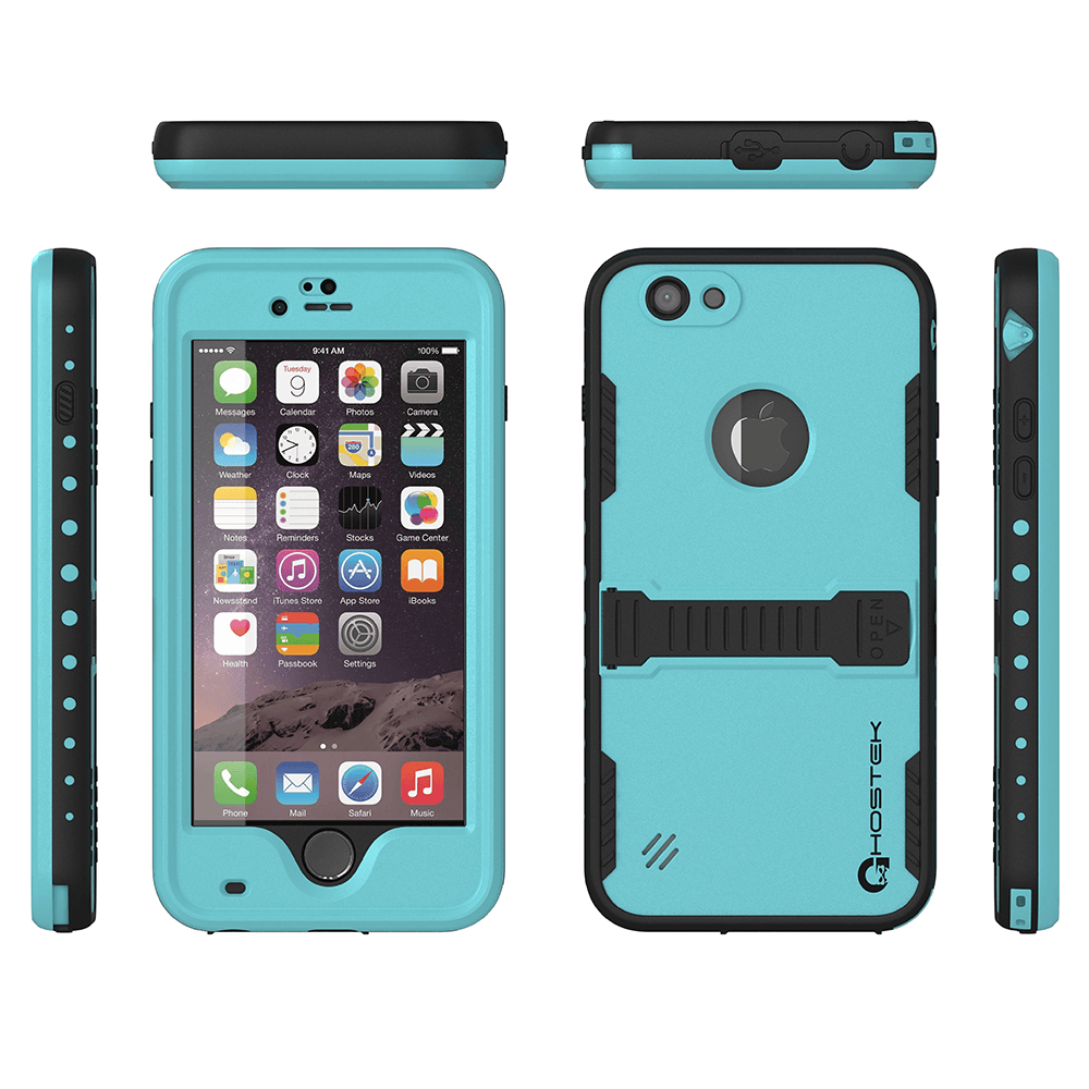 iphone-6-plus-waterproof-case-ghostek-atomic-bright-cyan-apple-iphone-6-plus-waterproof-case-w-attached-screen-protector-lifetime-warranty-apple-iphone-6-plus-slim-fitted-waterproof-shock-proof-dust-proof-dirt-proof-snow-proof-cover-case-ghocas193