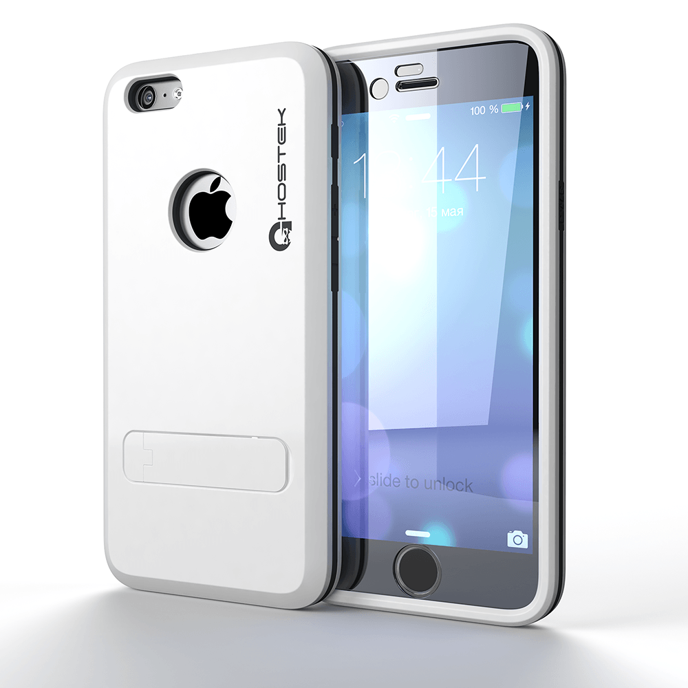 iPhone 6 Plus  Case, Ghostek Bullet White  Case W/ Attached Screen Protector - Lifetime Warranty