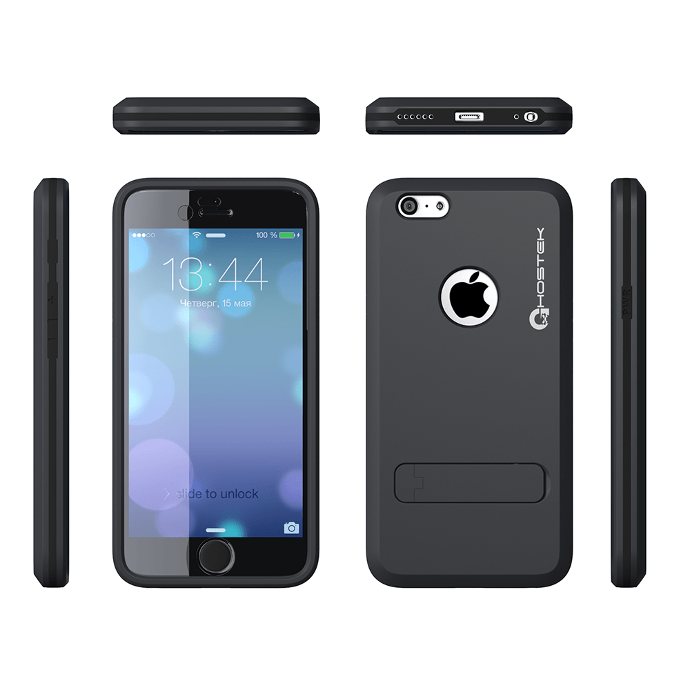 iphone-6-plus-waterproof-case-ghostek-bullet-charcoal-apple-iphone-6-plus-waterproof-case-w-attached-screen-protector-lifetime-warranty-apple-iphone-6-plus-slim-fitted-waterproof-shock-proof-dust-proof-dirt-proof-snow-proof-cover-case-ghocas205
