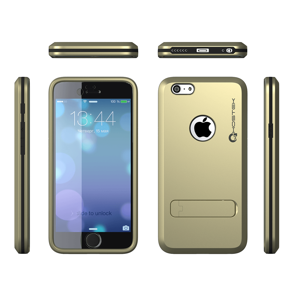 iphone-6-plus-waterproof-case-ghostek-bullet-gold-apple-iphone-6-plus-waterproof-case-w-attached-screen-protector-lifetime-warranty-apple-iphone-6-plus-slim-fitted-waterproof-shock-proof-dust-proof-dirt-proof-snow-proof-cover-case-ghocas202