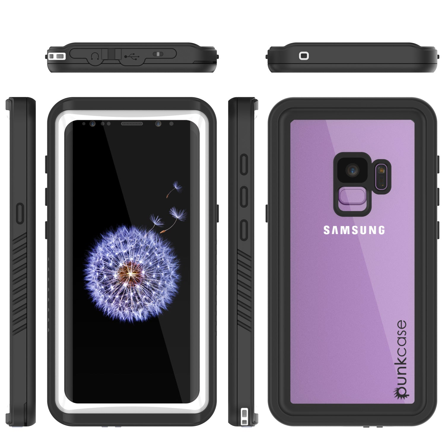 Galaxy S9 Waterproof Case, Punkcase [Extreme Series] [Slim Fit] Armor Cover [White]
