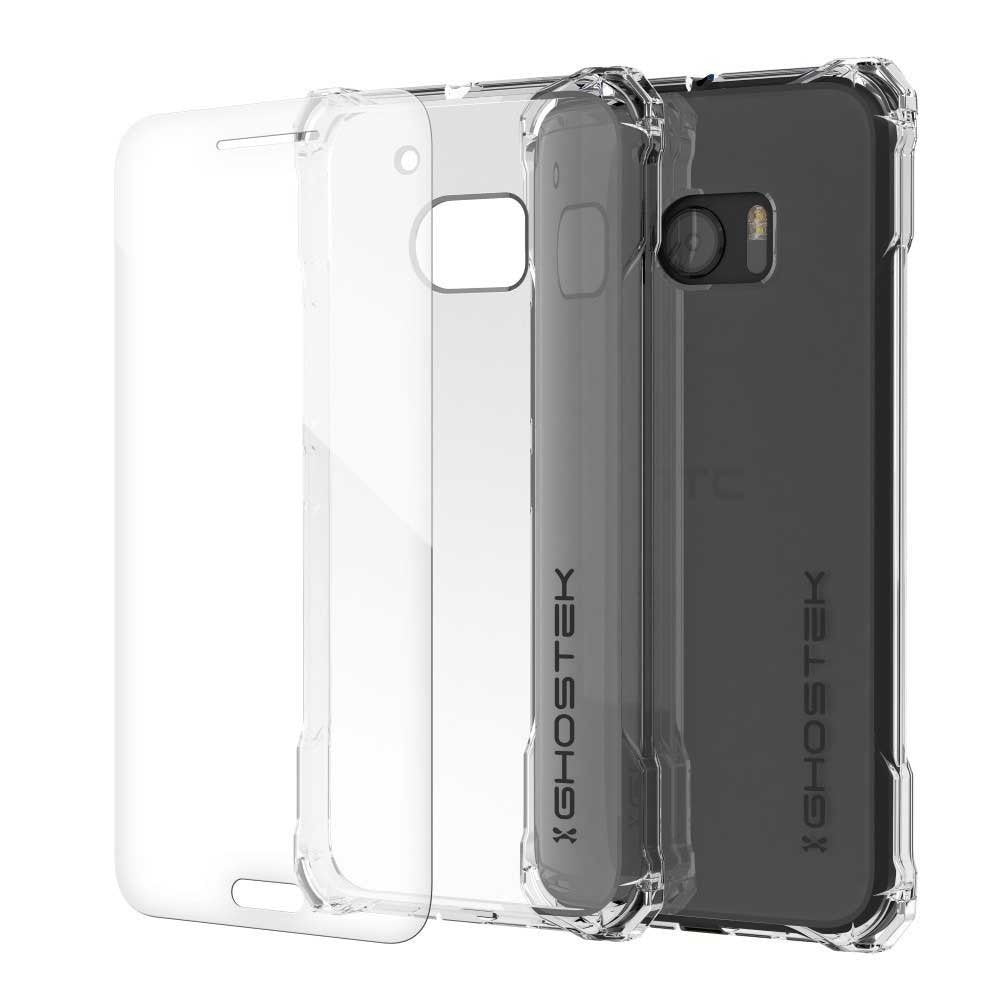 HTC 10 Case, Ghostek® Covert Clear Series Premium Slim Hybrid | w/Screen Protector | Ultra Fit [Clear]