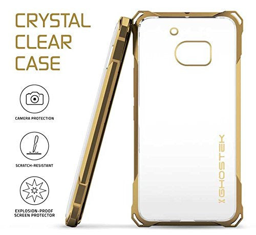 HTC 10 Case, Ghostek® Covert Gold Series Premium Slim Hybrid | w/Screen Protector | Ultra Fit [Gold]