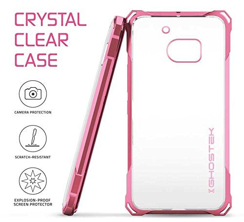 HTC 10 Case, Ghostek® Covert Pink Series Premium Slim Hybrid | w/Screen Protector | Ultra Fit [Rose Pink]